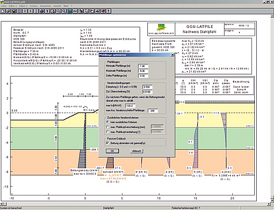 GGU-LATPILE   Calculation of elastically bedded piles