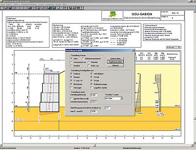 GGU-GABION | Calculation of Gabion Walls